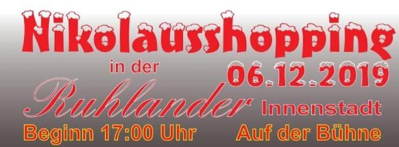 6.12.2019 Lichterfest/Nikolausshopping