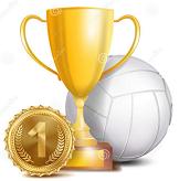 1. Platz beim Volleyballturnier